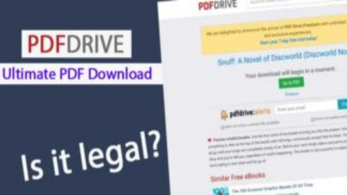 Pdf drive – Purpose and description, Is the content of PDFdrive legal?