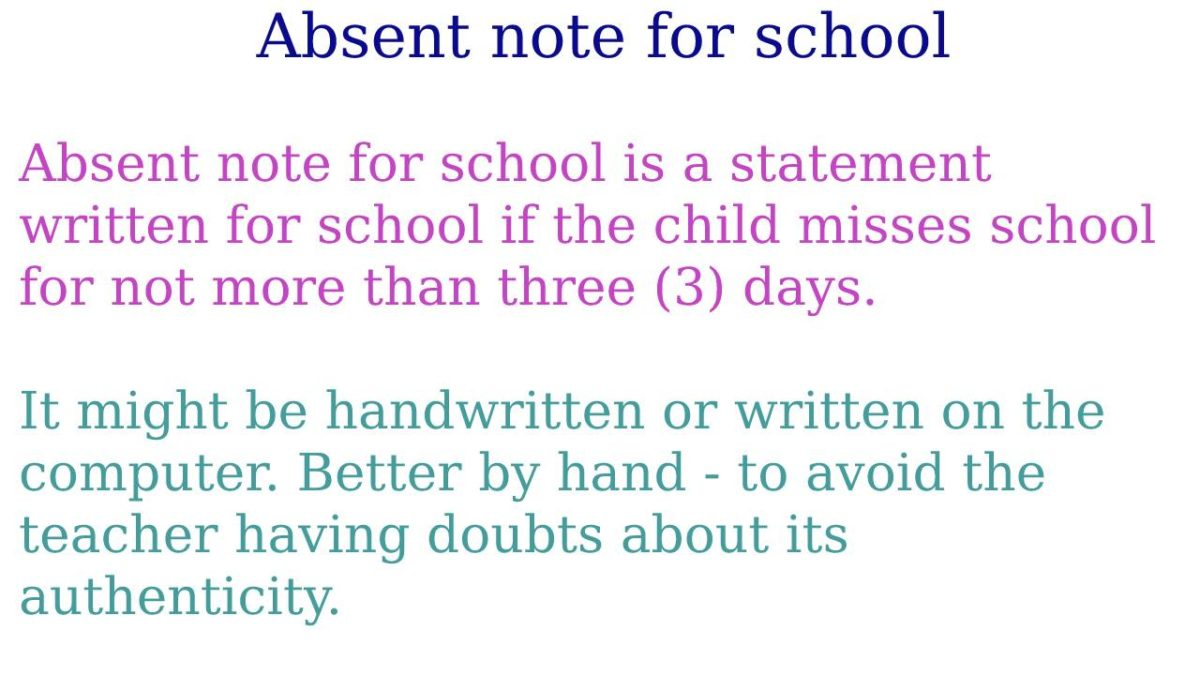 Absent note for school – How to write a note about the absence of a child?